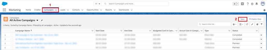 יצירת קמפיין אימייל ב Salesforce